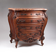 SOLD 19th C. Louis XV Carved Walnut Louis XV French Provencal Commode