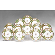 Set of 12 Late 19th C. Staffordshire Dinner Plates