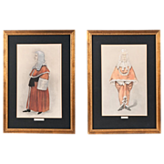 SALE Pair of Vanity Fair Spy Prints, Legal Series