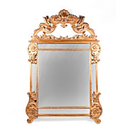 SALE Mid 20th C. Carved Italian Mirror Crested Frame