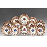 SALE Set of 12 Capodimonte German Porcelain Bas Relief Dinner Plates