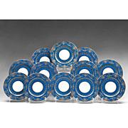 SALE Set of 12 Crescent Marked George Jones China Service Plates