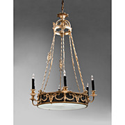SALE Early 20th C. French Empire Style 9 Light Chandelier