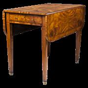 SALE George III English Pembroke Satinwood Table, Circa 1800 – 1830