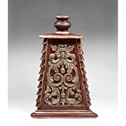 SALE Large Wood Carved Baroque Style Altar Candlestick