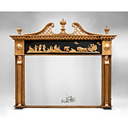 SALE English Neoclassical Regency Gilded Mantel Mirror, 1810-20