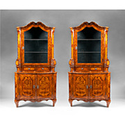 SALE Pair of 19th Century Northern Italian Corner Cabinets