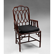 SALE Vintage Faux Bamboo Armchair With Painted Grain Finish