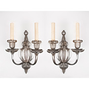 SALE Pair Of E. F. Caldwell Signed Two Arm Sconces