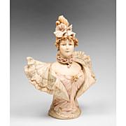 SALE Royal Rudolstadt Bust Of Sarah Bernhardt