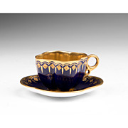 SALE Miniature Coalport Jeweled Cup & Saucer