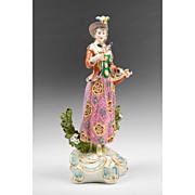 SALE Edme Samson Porcelain Figurine Of Female Pheasant Hunter