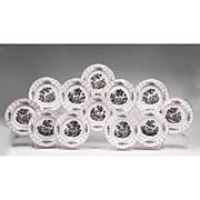 SALE Set of Twelve Samson et Cie Porcelain Dinner Plates Grisaille Decoration