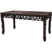 SALE Chinese Carved Hardwood Low Table