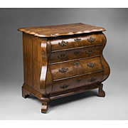 SALE Early 19th C. Dutch Bombay Burled Walnut Commode, Baroque Style