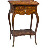 SALE 19th C. French Louis XV Style Inlaid Side Table
