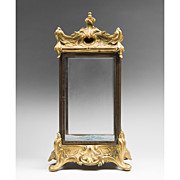 SOLD 19th C. French Table Top Miniature Bronze Vitrine