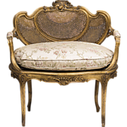 SOLD 19th C. French Louis XV Vanity Bench Or Canape