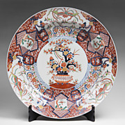 SALE Massive Chinese Export Imari Charger & Stand