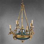 SALE French Empire Style Bronze Patinated Chandelier