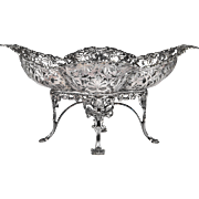 SALE Late 19th C. English Sterling Footed Compote, James Dixon & Sons