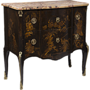 SALE 19th C. French Louis XV Style Chinoiserie Laquered Commode