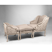 SALE French Regence Style Belle Epoque Duchesse Brisee Or Chaise