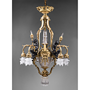 SALE 19th C. Patinated Bronze 13 Light French Chandelier