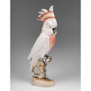 SALE Royal Dux Porcelain Figurine Of Cockatoo