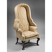SALE Irish Georgian Style Hooded Porter's Chair
