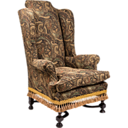 SALE Late 18th C. William & Mary Wing Back Chair