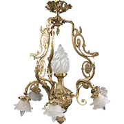 SALE Vintage French Style Bronze And Ormolu Chandelier