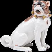 SALE Dresden Porcelain Pug By Carl Thieme