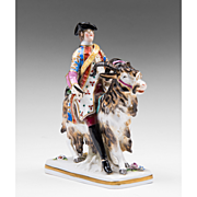 Early 20th C. Sitzendorf Porcelain Figurine Of Bruhl's Tailor