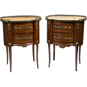 SALE Pair of Early 20th C. French Louis XV Style Commodes Or Nightstands