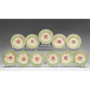 Set of 11 Royal Worcester Hand Painted Dessert Plates