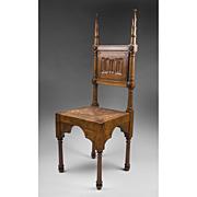 SALE 19th C. English Walnut Hall Chair