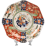 SALE Mid 19th C. Meiji Period Japanese Imari Charger