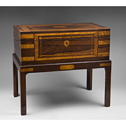 SALE English Regency Rosewood Writing Box Or Lap Desk