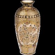 SALE Miniature Satsuma Meiji Period Baluster Form Vase