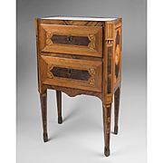 18th C. Neoclassical Northern Italian Maggiolini Style Commodino or Commode