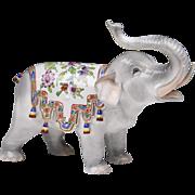 SALE Carl Thieme Dresden Porcelain Elephant
