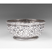 SALE 1884 Howard & Co., Sterling Repousse Bowl, With William Astor Dedication