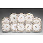 Set of Ten Wedgwood Dinner Plates, Circa 1900