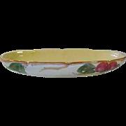"Franciscan Apple Oval Celery Relish Dish 10 3/8""  ca 1949 MT"