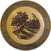 SOLD Royal Currier + Ives Blue Salad Dessert Plate Birthplace of Washington Many Available