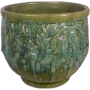 McCoy Morning Glory Jardiniere Blue Green Mixed Glaze MT