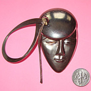 SALE LAST CHANCE! Fanciful Face Brooch:  Possibly French Apache Dancer: Modernist Style