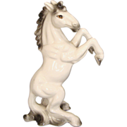 SALE Upright Stallion Ceramic Figurine: Made in Japan
