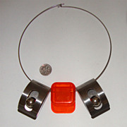 SALE Artsy Modernist Necklace:  Machine Age-Style Chic